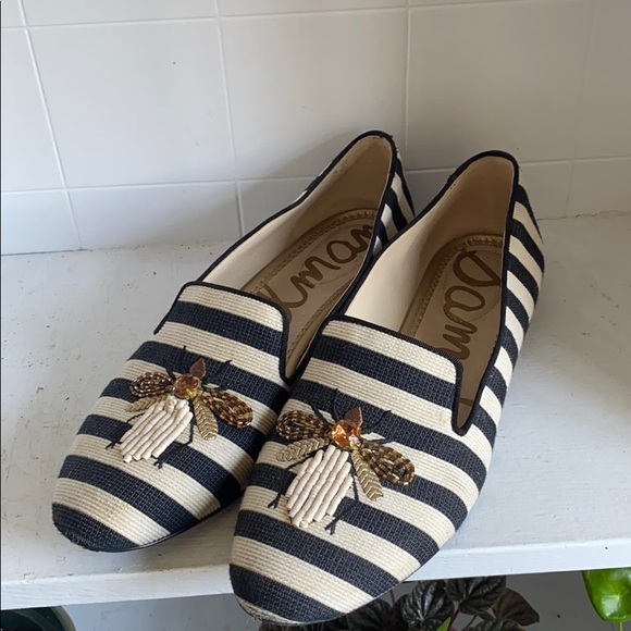 Sam Edelman striped insect loafer sz 9.5